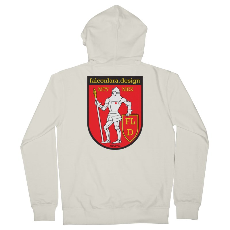 Red Shield Knight Emblem Women's French Terry Zip-Up Hoody by falconlara.design shop