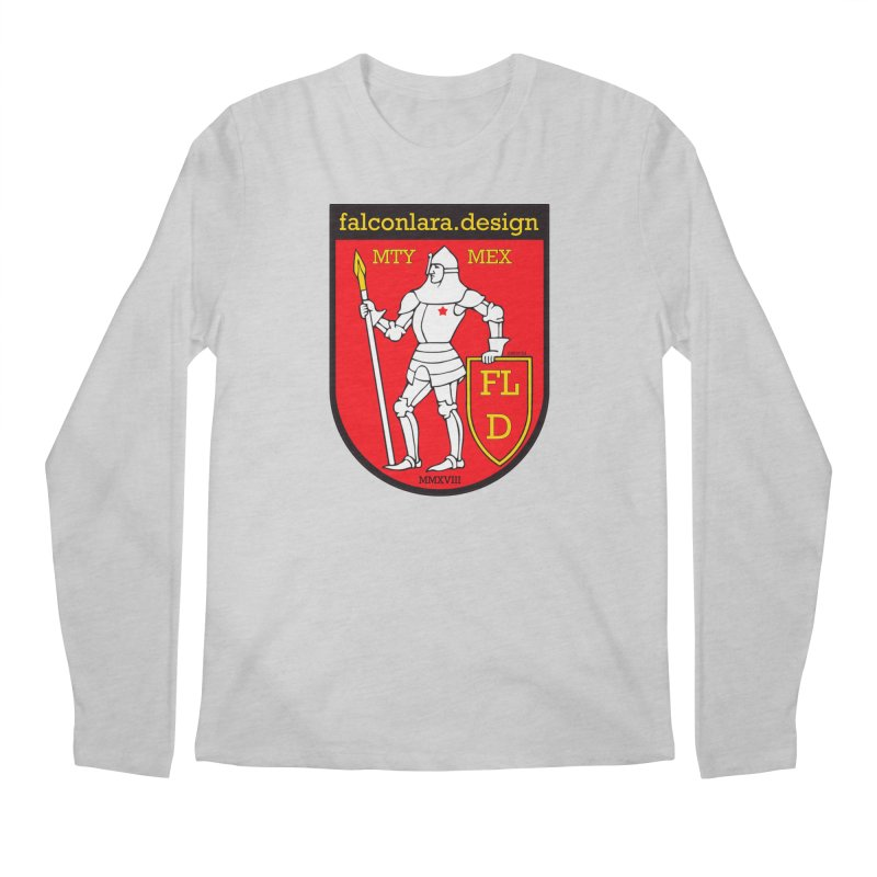 Red Shield Knight Emblem Men's Regular Longsleeve T-Shirt by falconlara.design shop