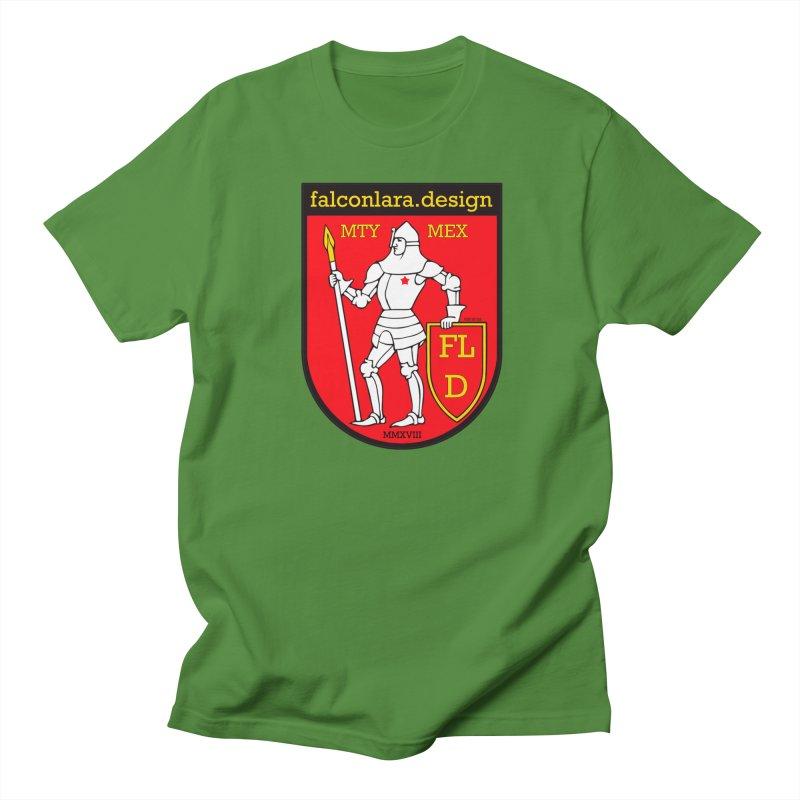 Red Shield Knight Emblem Men's Regular T-Shirt by falconlara.design shop