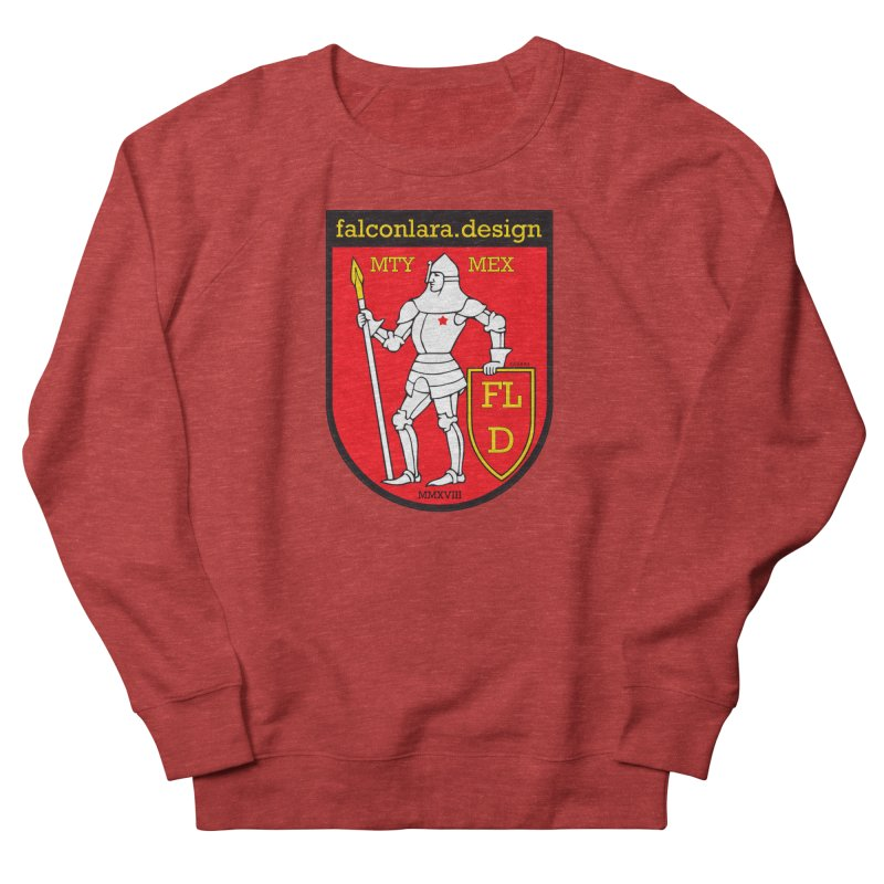 Red Shield Knight Emblem Women's French Terry Sweatshirt by falconlara.design shop