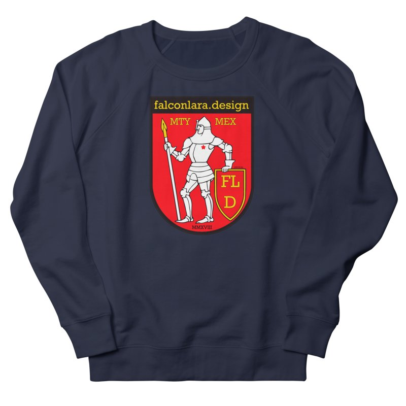 Red Shield Knight Emblem Women's French Terry Sweatshirt by falconlara.design shop