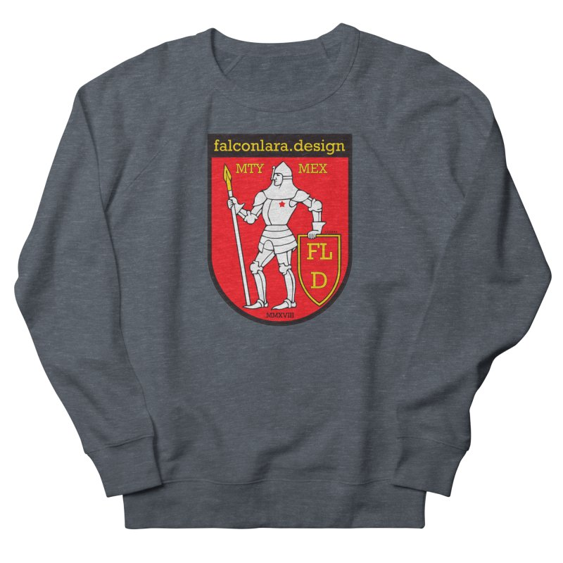 Red Shield Knight Emblem Men's French Terry Sweatshirt by falconlara.design shop
