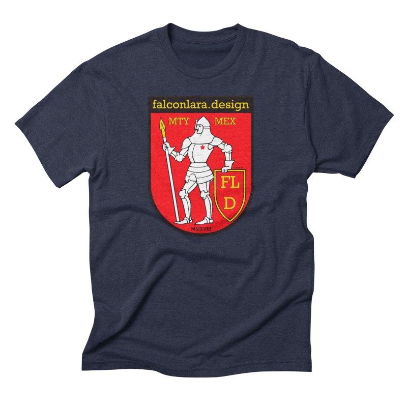 Red Shield Knight Emblem Men's Triblend T-Shirt by falconlara.design shop