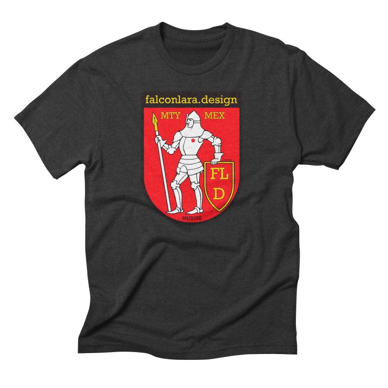 Red Shield Knight Emblem Men's Triblend T-Shirt by falconlara.design shop