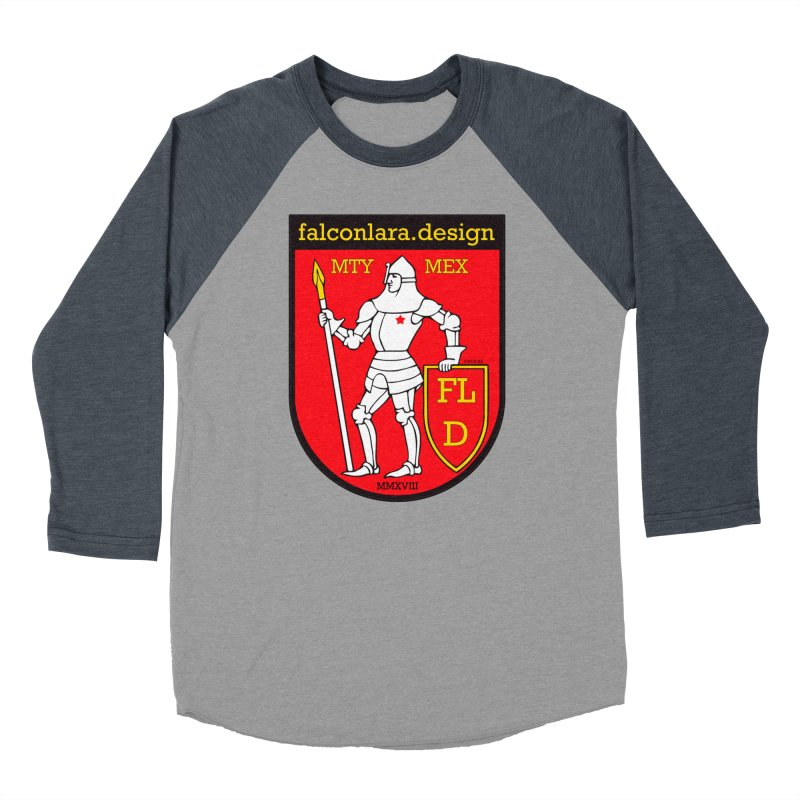 Red Shield Knight Emblem Women's Baseball Triblend Longsleeve T-Shirt by falconlara.design shop