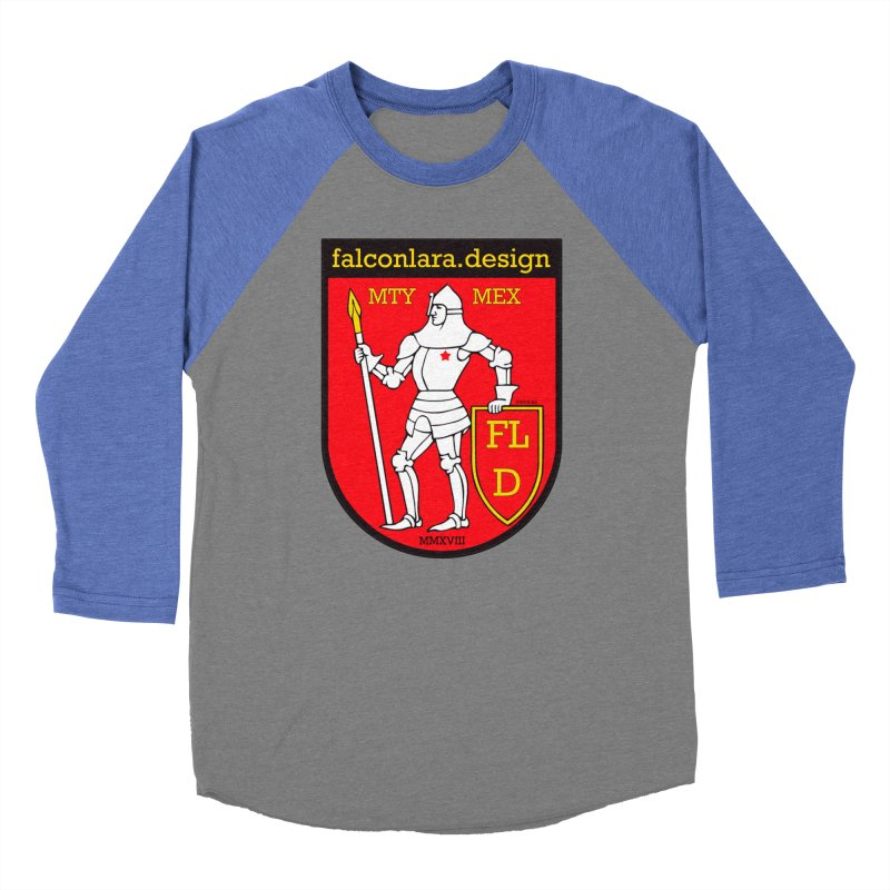 Red Shield Knight Emblem Men's Baseball Triblend Longsleeve T-Shirt by falconlara.design shop