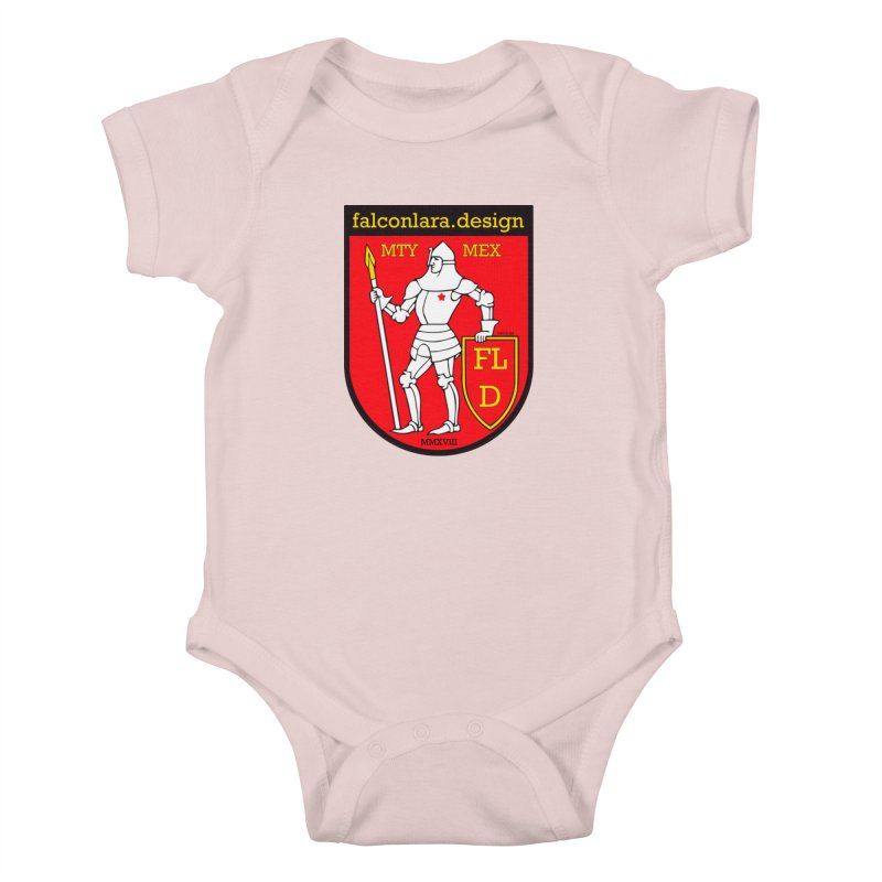 Red Shield Knight Emblem Kids Baby Bodysuit by falconlara.design shop