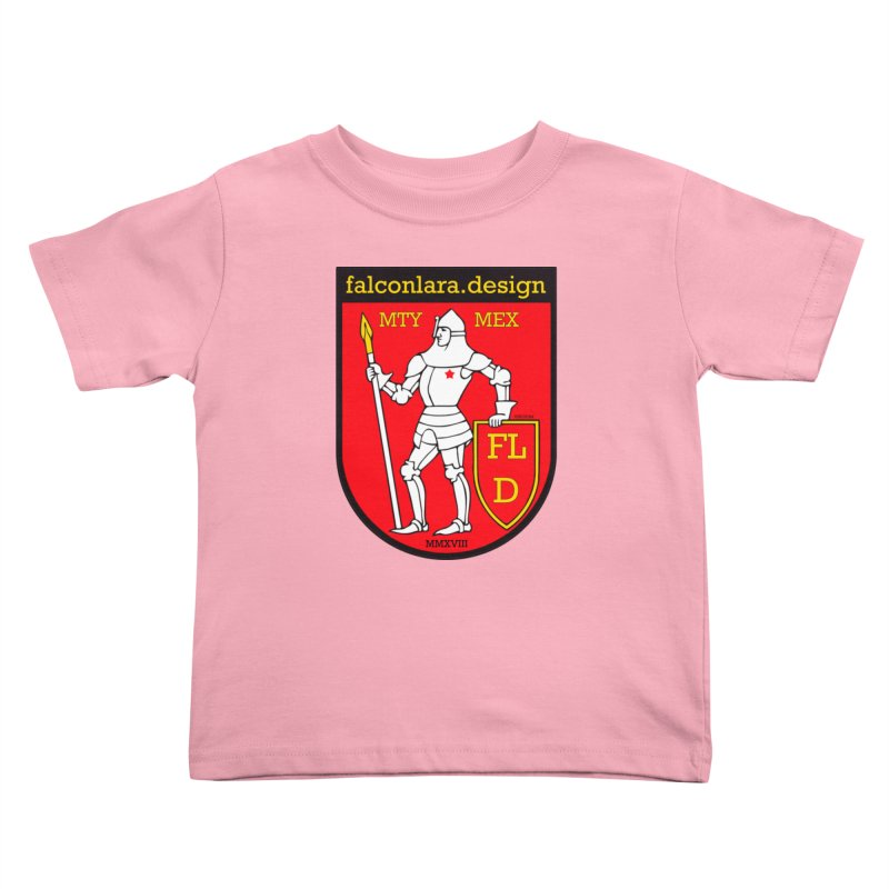 Red Shield Knight Emblem Kids Toddler T-Shirt by falconlara.design shop