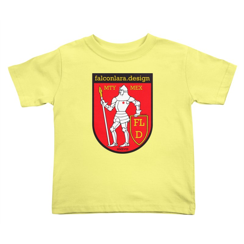 Red Shield Knight Emblem Kids Toddler T-Shirt by falconlara.design shop