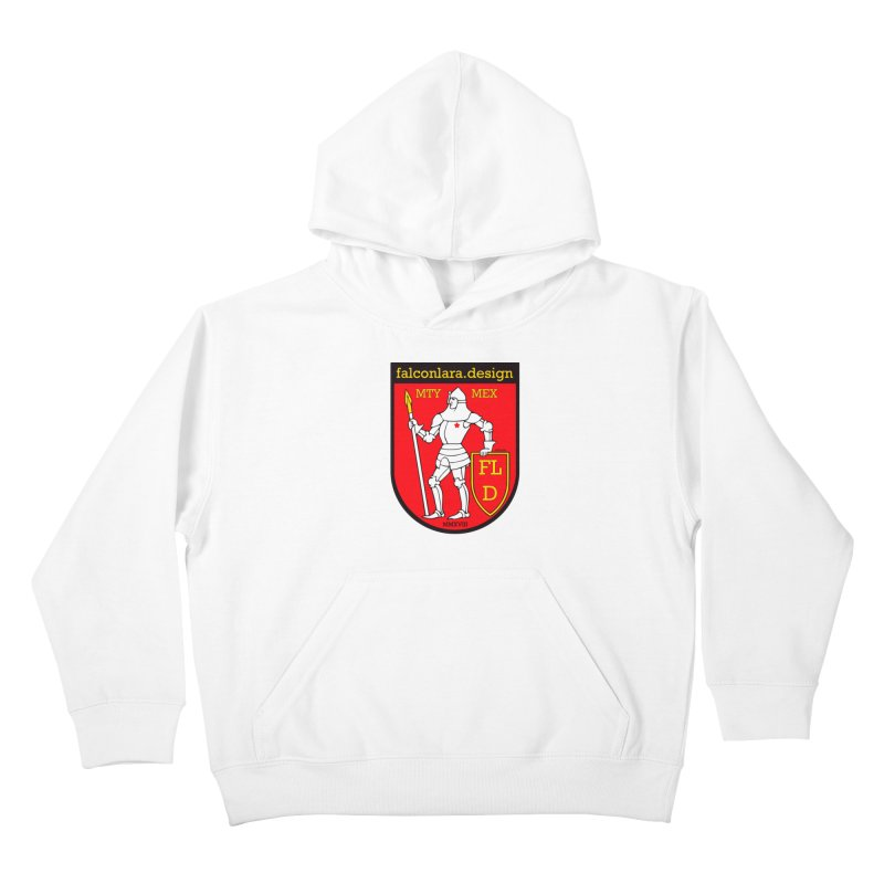 Red Shield Knight Emblem Kids Pullover Hoody by falconlara.design shop
