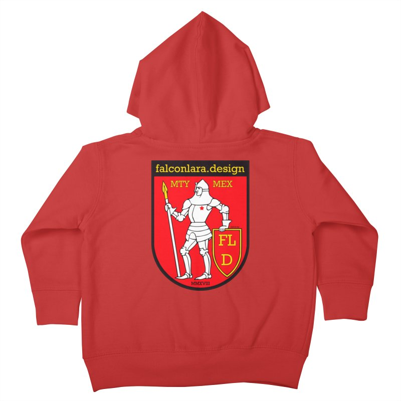 Red Shield Knight Emblem Kids Toddler Zip-Up Hoody by falconlara.design shop