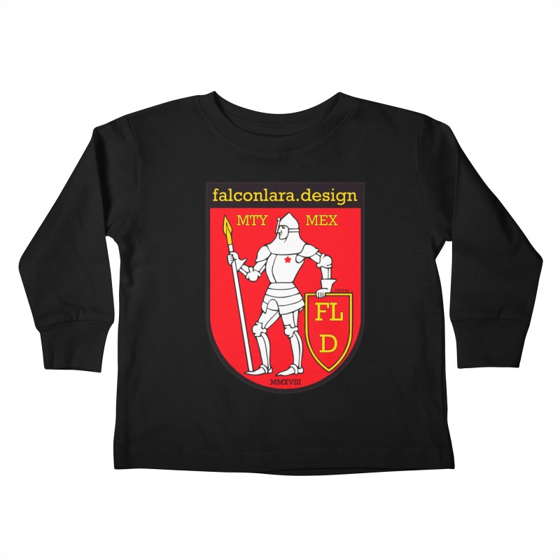 Red Shield Knight Emblem Kids Toddler Longsleeve T-Shirt by falconlara.design shop