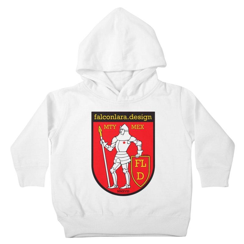 Red Shield Knight Emblem Kids Toddler Pullover Hoody by falconlara.design shop