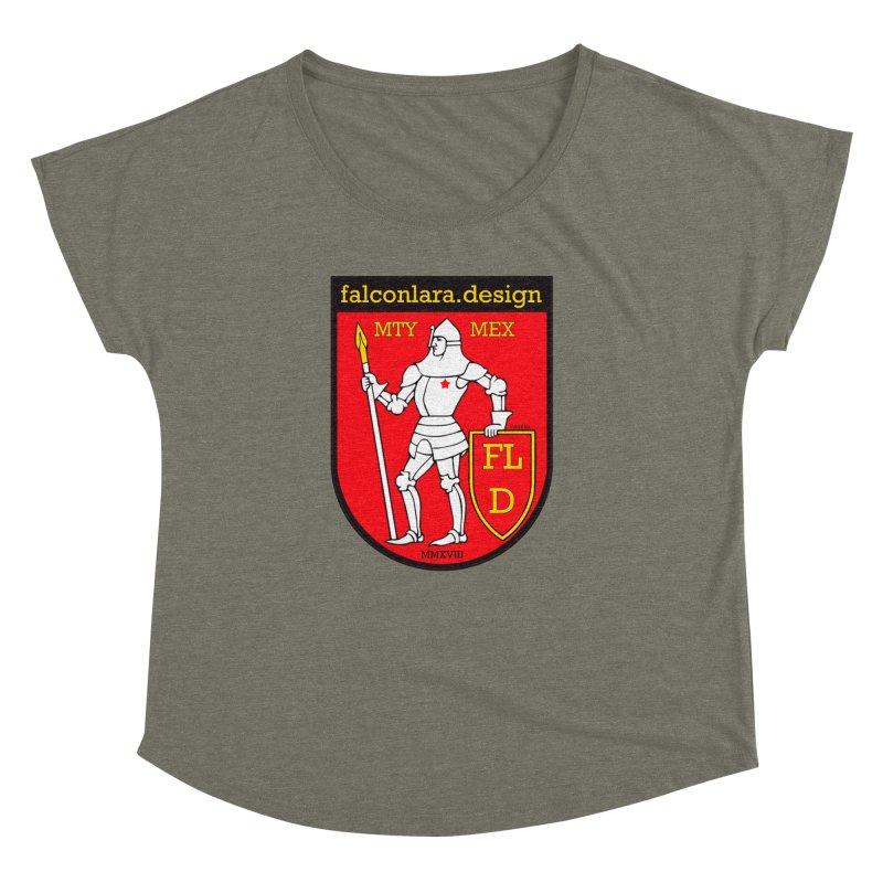 Red Shield Knight Emblem Women's Dolman Scoop Neck by falconlara.design shop