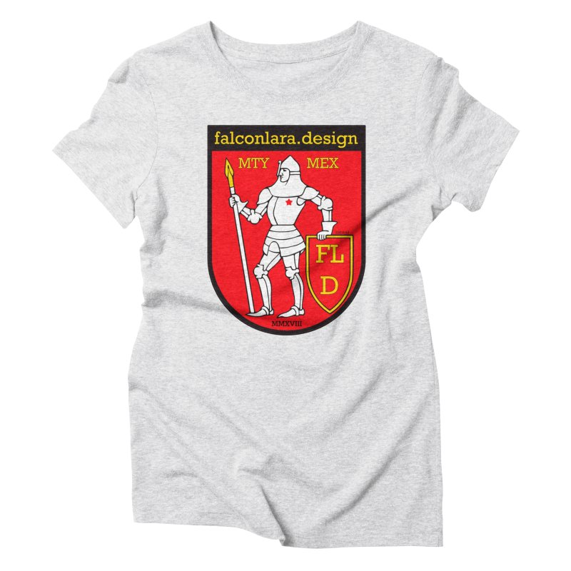 Red Shield Knight Emblem Women's Triblend T-Shirt by falconlara.design shop