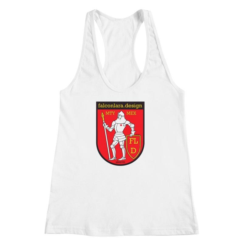 Red Shield Knight Emblem Women's Racerback Tank by falconlara.design shop