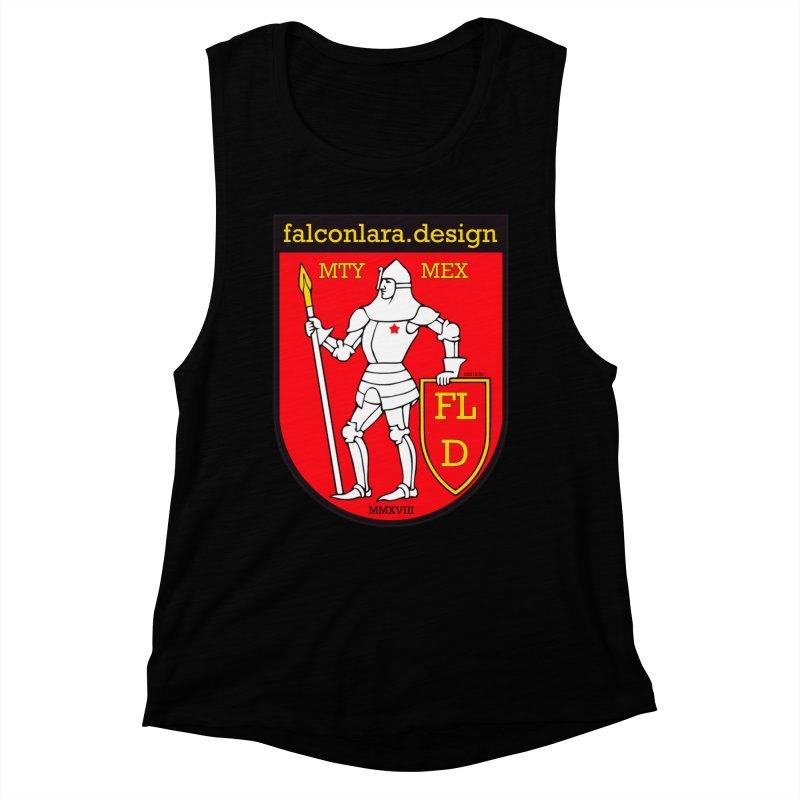 Red Shield Knight Emblem Women's Muscle Tank by falconlara.design shop