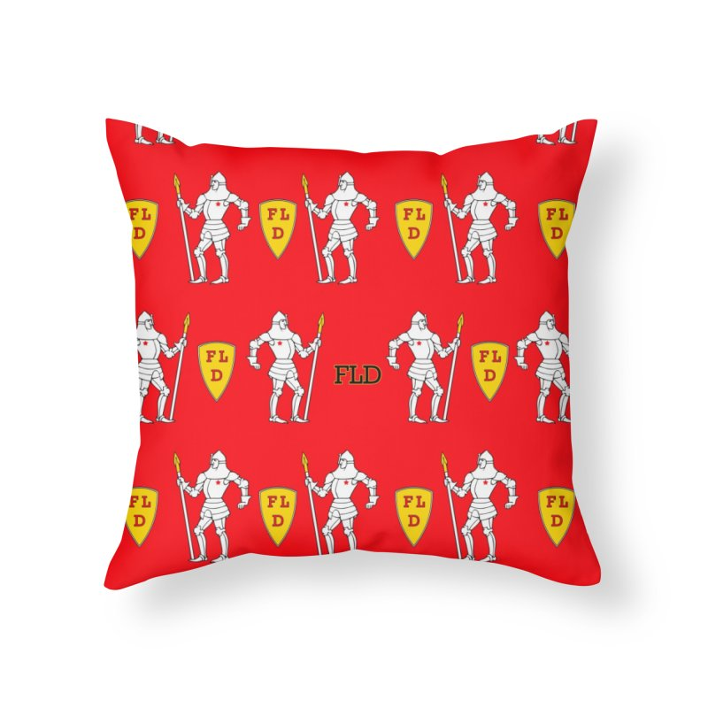Red Shield Knight Emblem Home Throw Pillow by falconlara.design shop