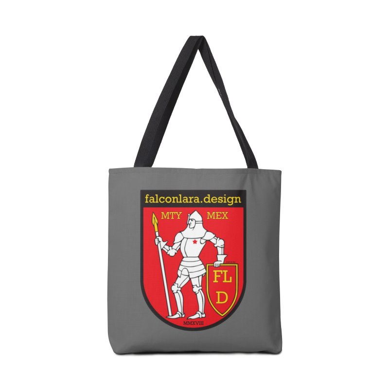 Red Shield Knight Emblem Accessories Bag by falconlara.design shop