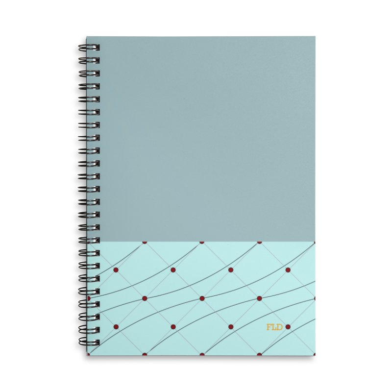 FLD Tufted Design Accessories Lined Spiral Notebook by falconlara.design shop