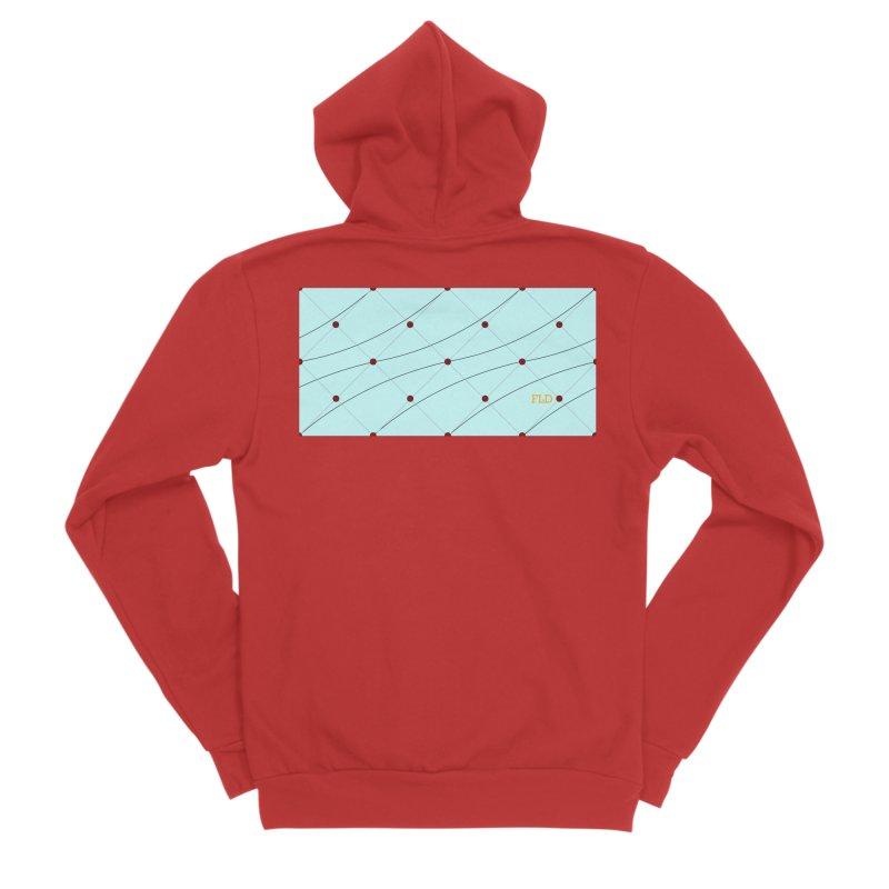 FLD Tufted Design Women's Sponge Fleece Zip-Up Hoody by falconlara.design shop