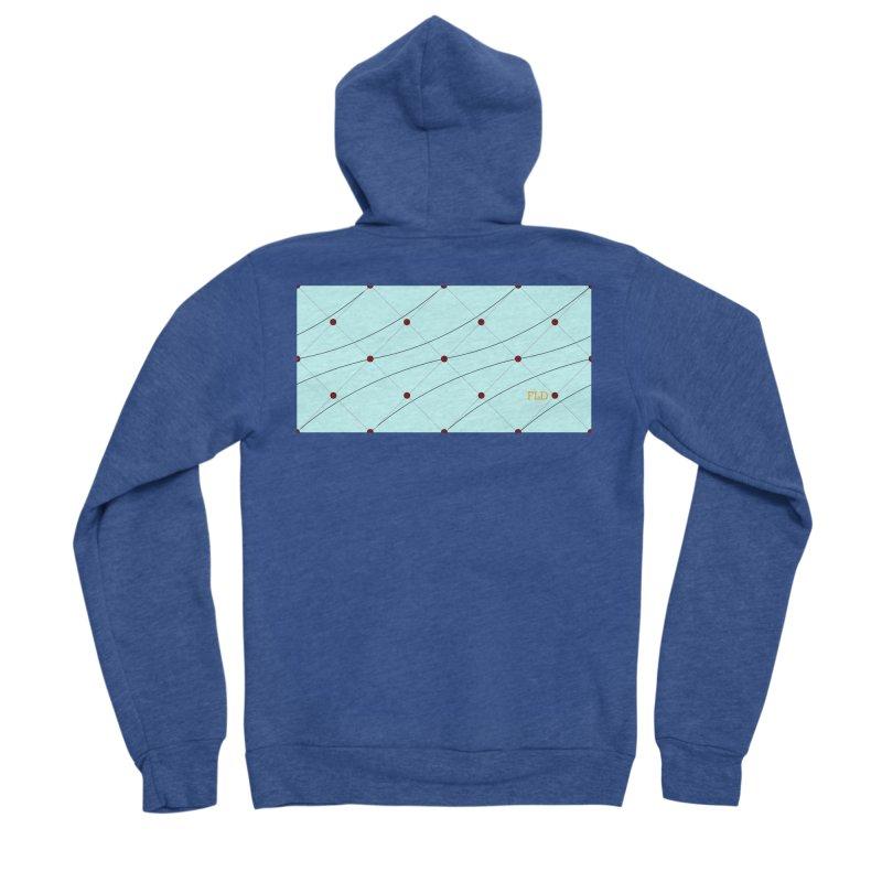 FLD Tufted Design Men's Sponge Fleece Zip-Up Hoody by falconlara.design shop