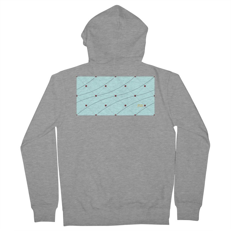 FLD Tufted Design Men's French Terry Zip-Up Hoody by falconlara.design shop