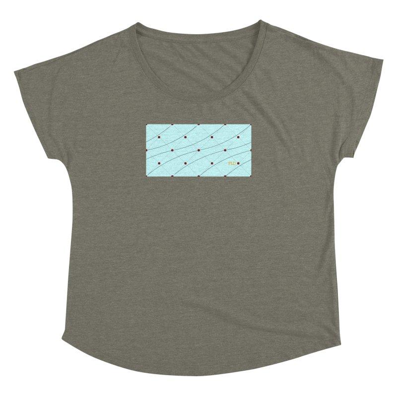 FLD Tufted Design Women's Dolman Scoop Neck by falconlara.design shop