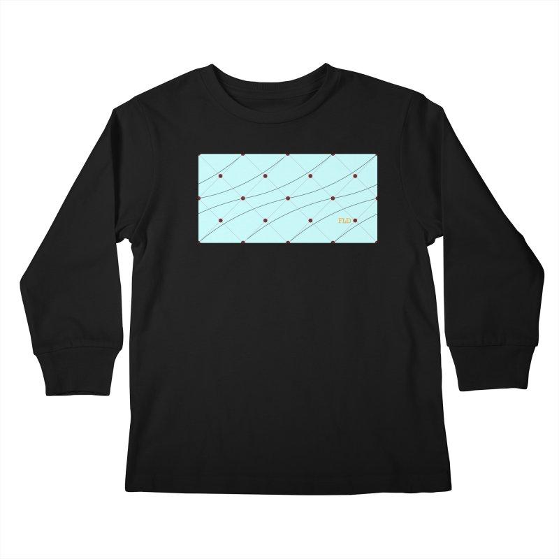 FLD Tufted Design Kids Longsleeve T-Shirt by falconlara.design shop