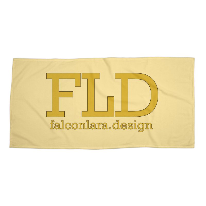 FLD logo defined Accessories Beach Towel by falconlara.design shop