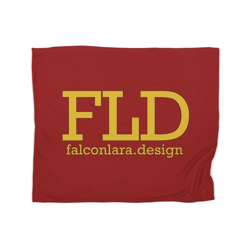 FLD logo defined Home Blanket by falconlara.design shop