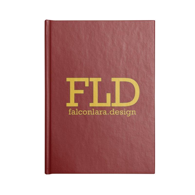 FLD logo defined Accessories Notebook by falconlara.design shop