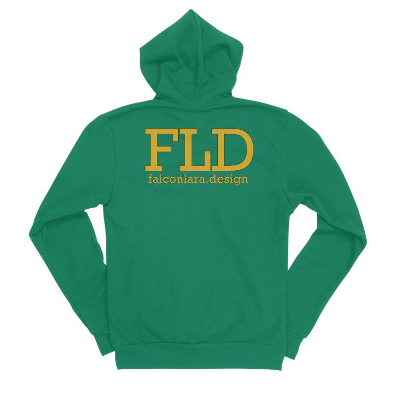 FLD logo defined Women's Sponge Fleece Zip-Up Hoody by falconlara.design shop