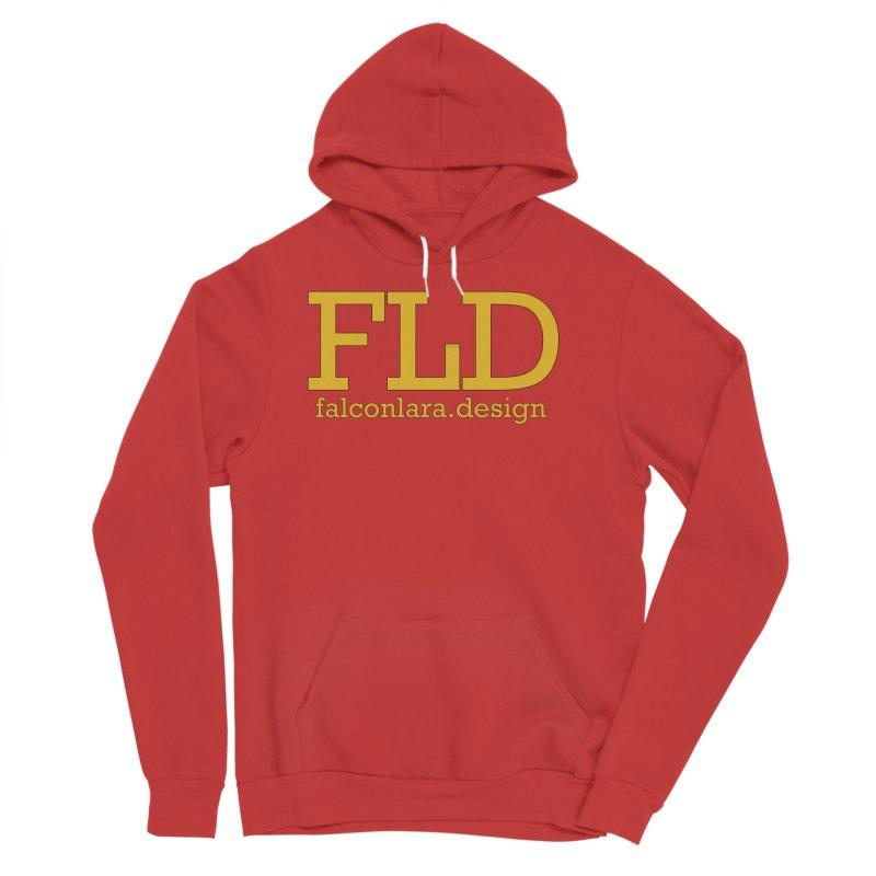 FLD logo defined Women's Sponge Fleece Pullover Hoody by falconlara.design shop