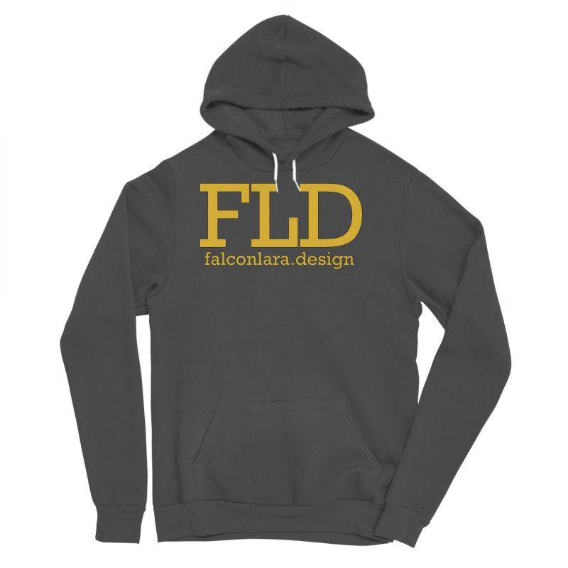 FLD logo defined Men's Sponge Fleece Pullover Hoody by falconlara.design shop