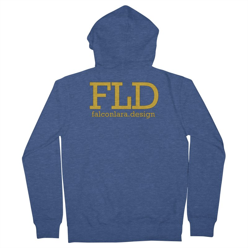 FLD logo defined Women's French Terry Zip-Up Hoody by falconlara.design shop