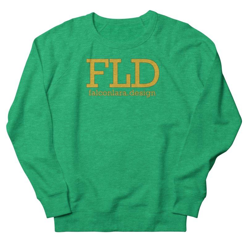 FLD logo defined Women's French Terry Sweatshirt by falconlara.design shop