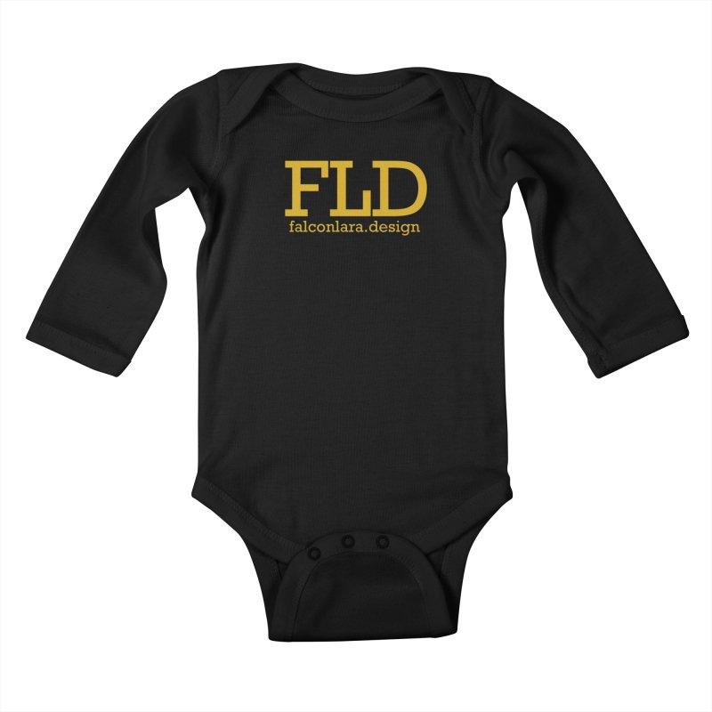 FLD logo defined Kids Baby Longsleeve Bodysuit by falconlara.design shop