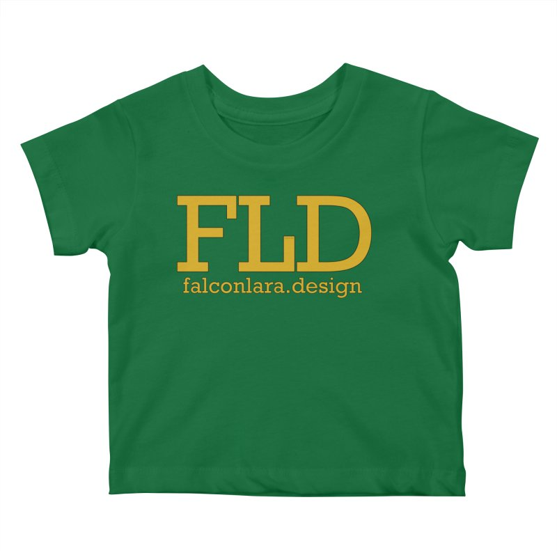 FLD logo defined Kids Baby T-Shirt by falconlara.design shop