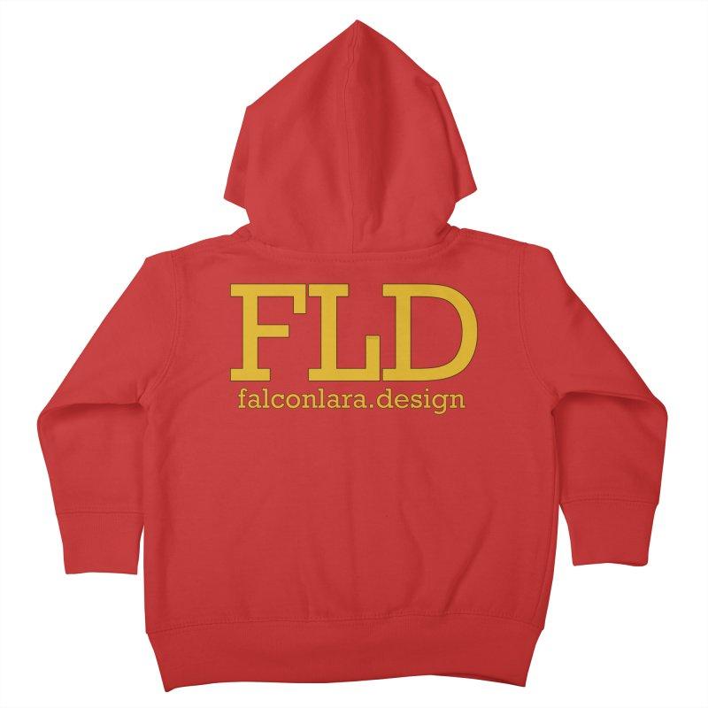 FLD logo defined Kids Toddler Zip-Up Hoody by falconlara.design shop
