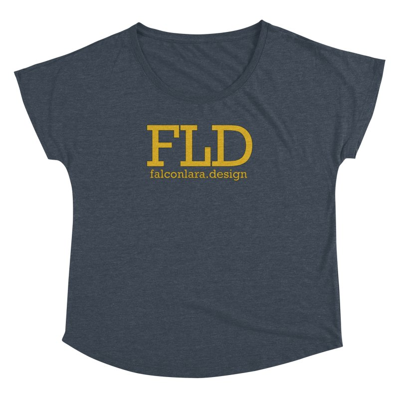 FLD logo defined Women's Dolman Scoop Neck by falconlara.design shop