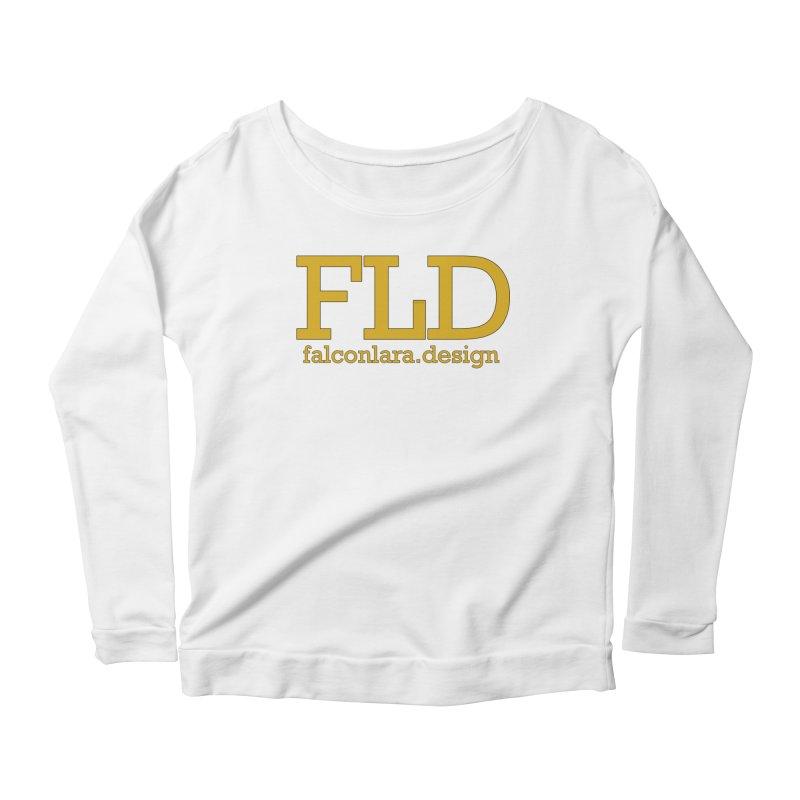 FLD logo defined Women's Scoop Neck Longsleeve T-Shirt by falconlara.design shop