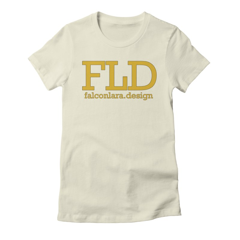 FLD logo defined Women's Fitted T-Shirt by falconlara.design shop