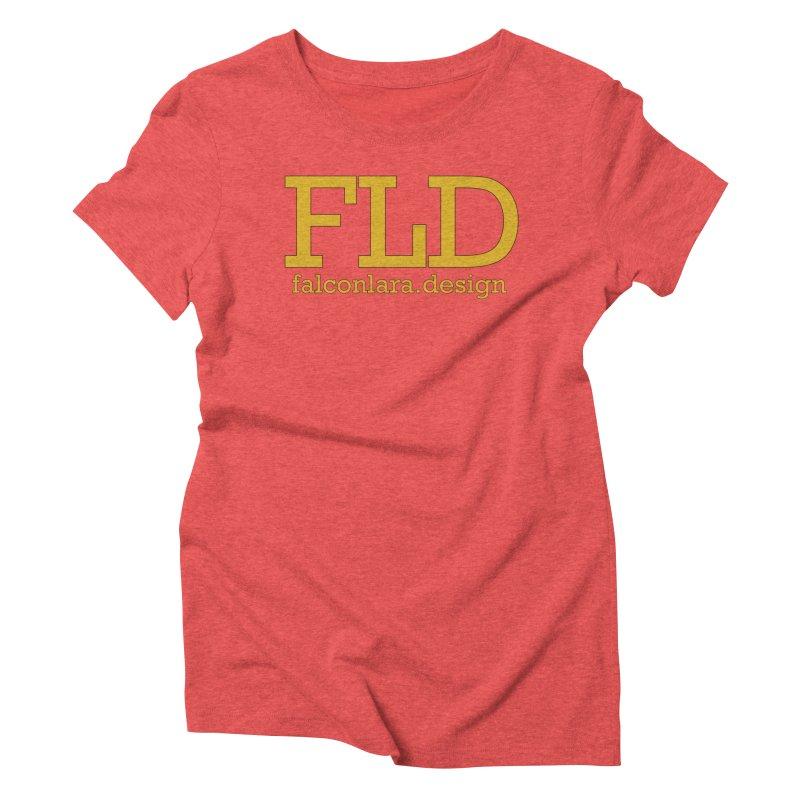 FLD logo defined Women's Triblend T-Shirt by falconlara.design shop