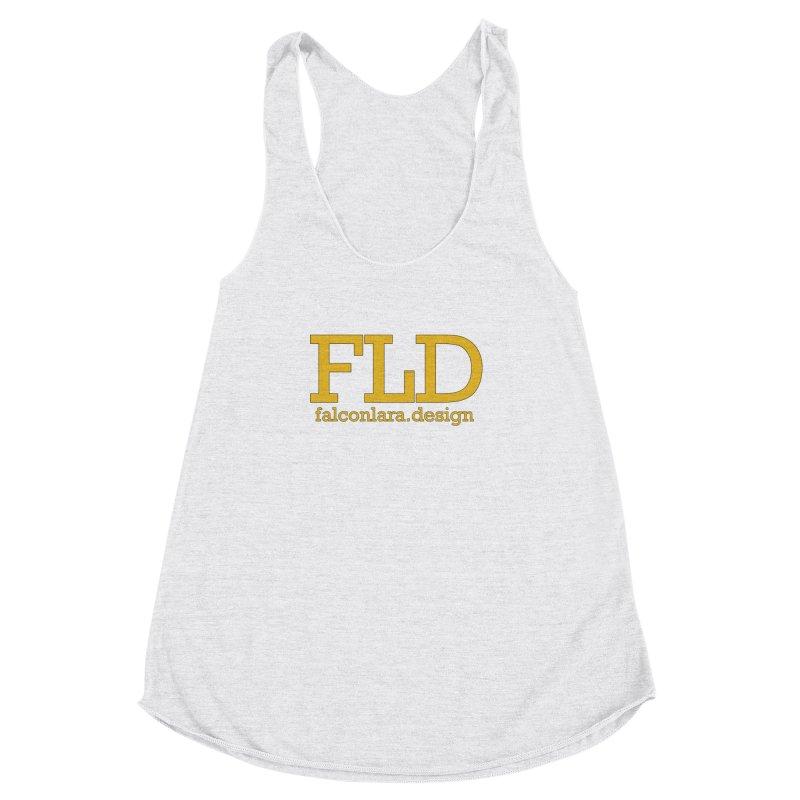 FLD logo defined Women's Racerback Triblend Tank by falconlara.design shop