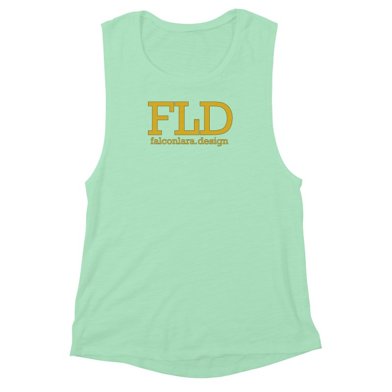 FLD logo defined Women's Muscle Tank by falconlara.design shop
