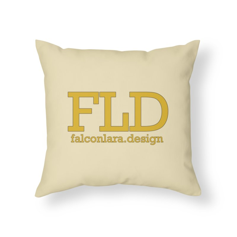 FLD logo defined Home Throw Pillow by falconlara.design shop