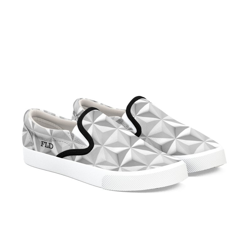 Geometric One Women's Slip-On Shoes by falconlara.design shop