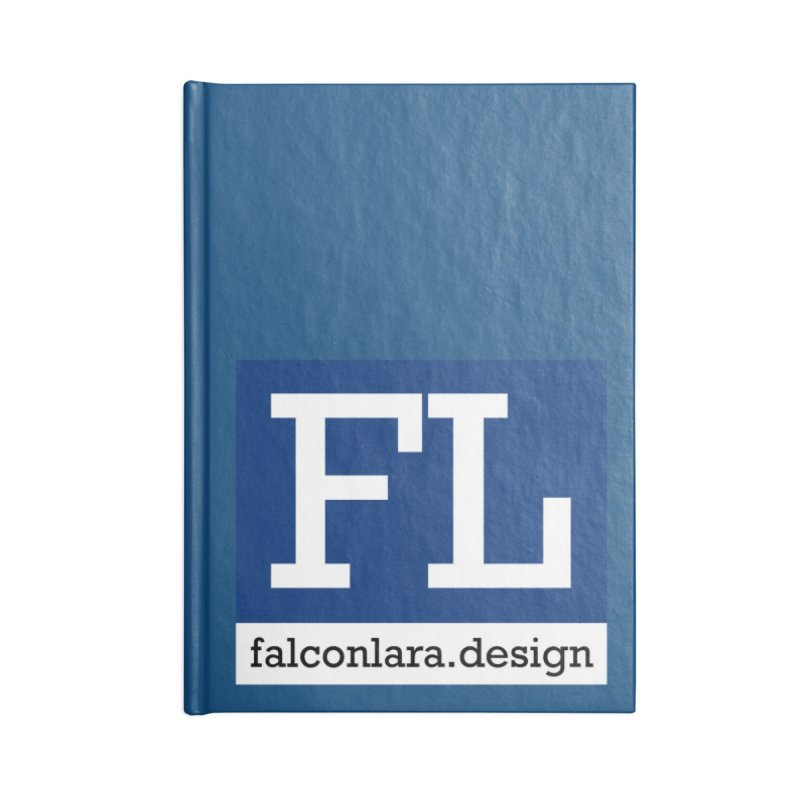 FL Design Blue Logo Accessories Lined Journal Notebook by falconlara.design shop