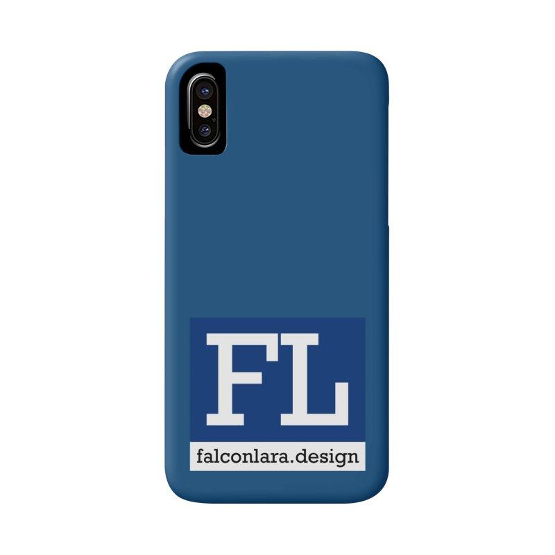FL Design Blue Logo Accessories Phone Case by falconlara.design shop